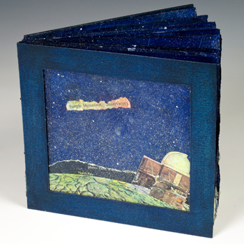Purple Mountain artist book by Judith Hoffman